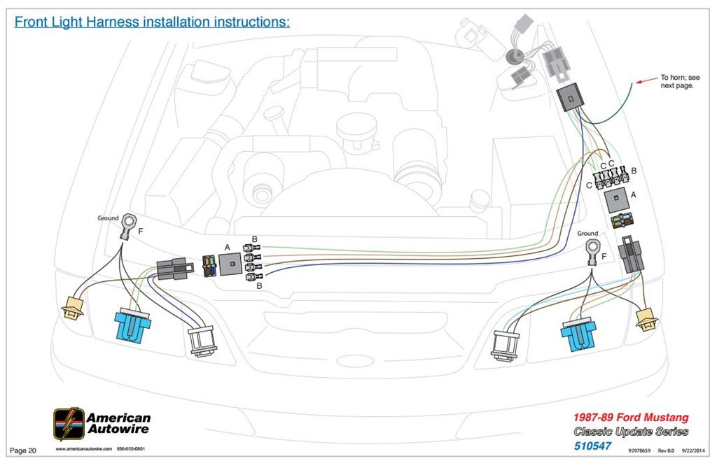 how to install fox body mustang classic update wiring kit