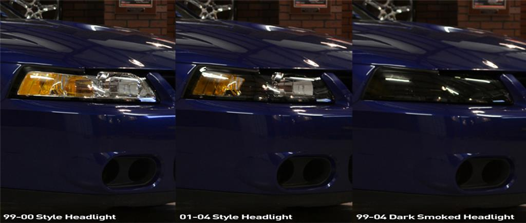 Mustang Headlight Installation Comparison 99 04 New Edge