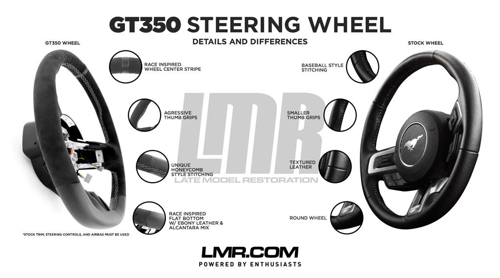 GT350 Steering Wheel Details and Differences  - GT350 Steering Wheel Details and Differences